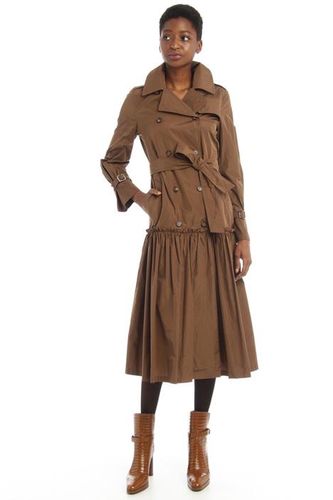 Taffeta trench style dress Intrend