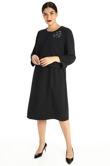Stretch textured dress Intrend