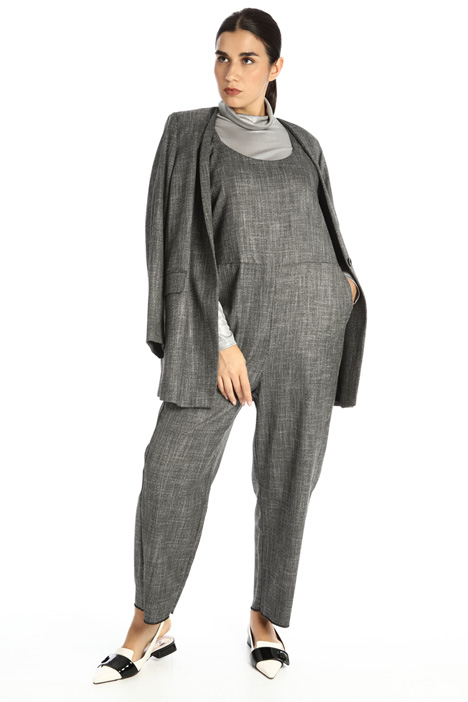 Yarn dyed jumpsuit Intrend