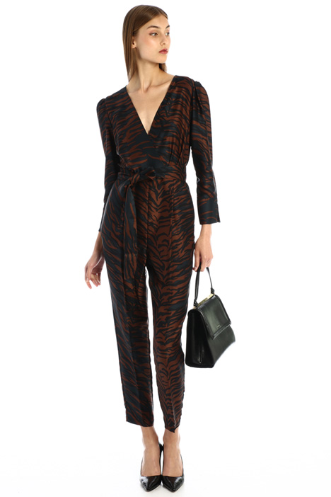 Patterned twill jumpsuit Intrend
