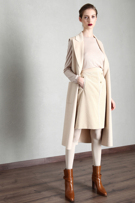 Camel and cashmere vest Intrend