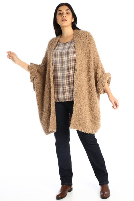 Wool blend bouclé cardigan Intrend