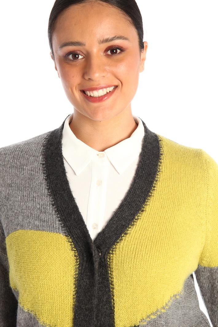 Long yarn dyed cardigan Intrend