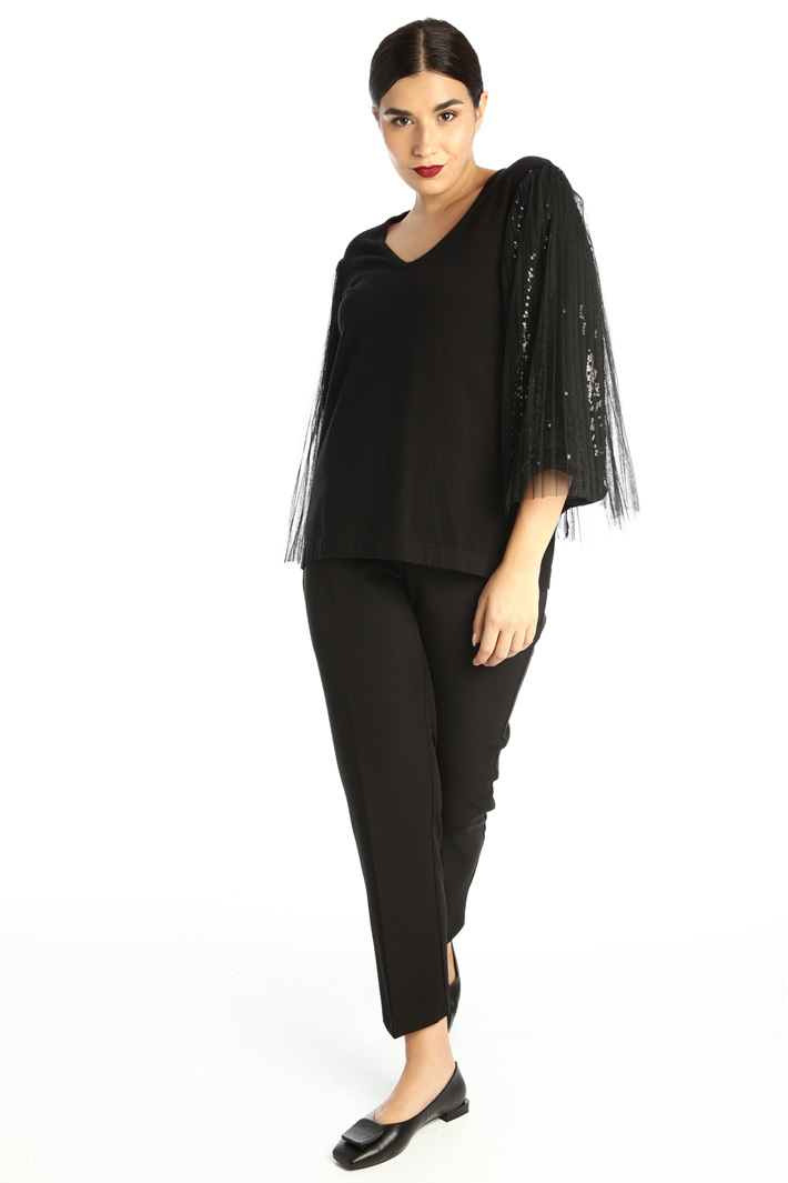 Viscose and tulle sweater Intrend