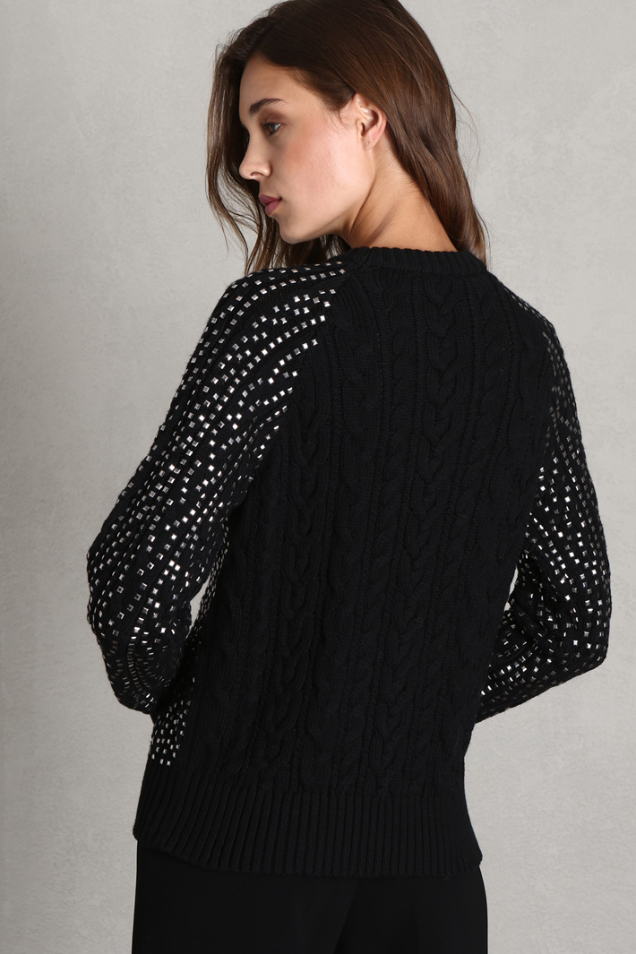Braided knit sweater Intrend
