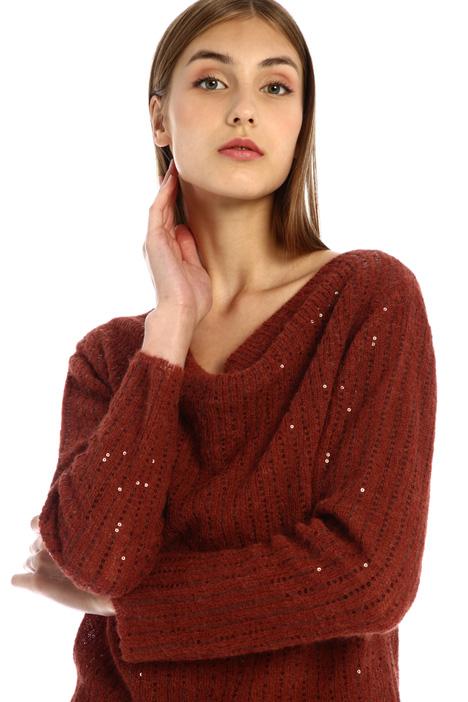 Sequin alpaca sweater Intrend