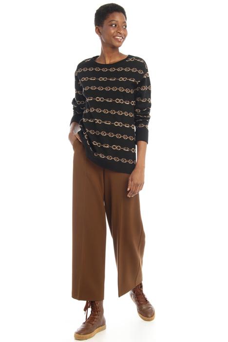 Oversized jacquard sweater Intrend