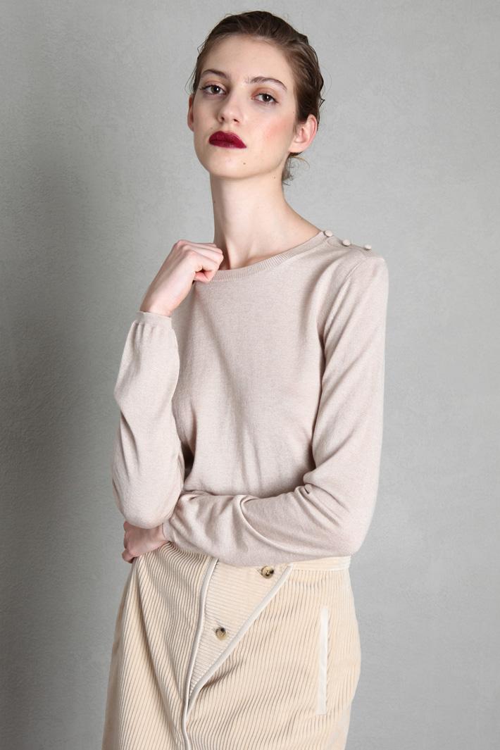 Cashmere and silk yarn sweater Intrend