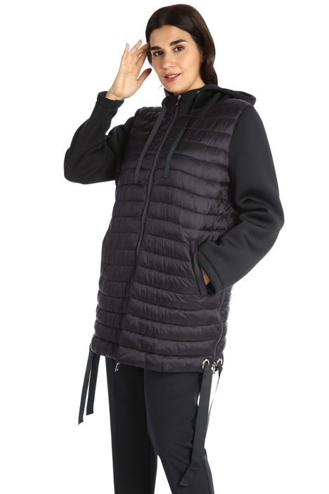 Satin and jersey down jacket Intrend