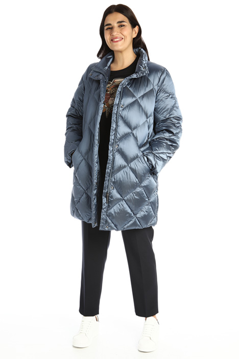 Quilted satin down jacket Intrend