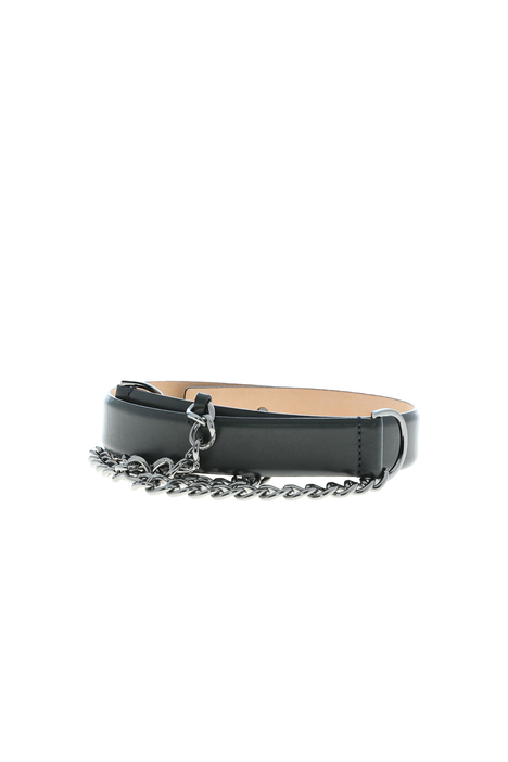 Leather belt with chain Intrend