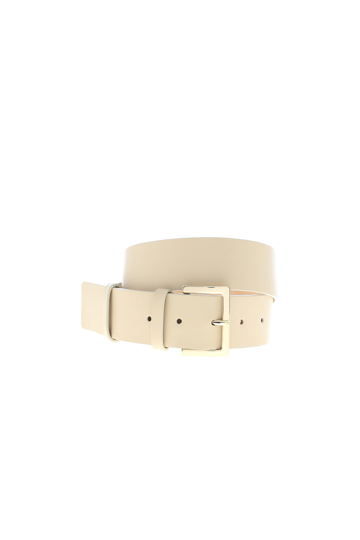 Wide leather belt Intrend