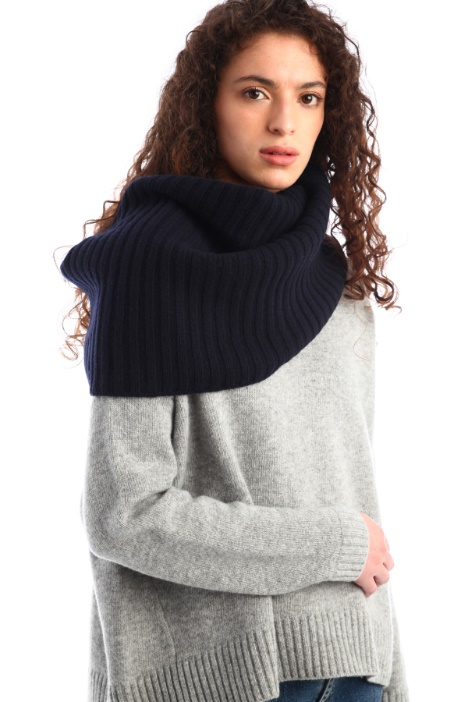 Wool and cashmere yarn collar Intrend