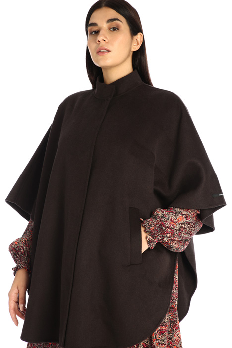 Double wool blend cape  Intrend