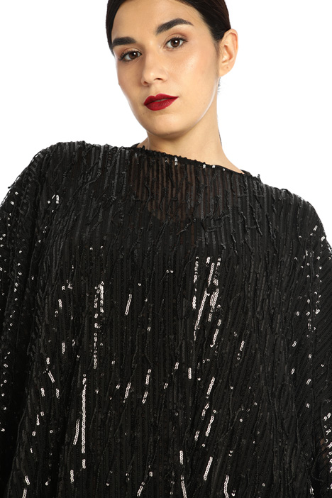 Sequinned poncho Intrend