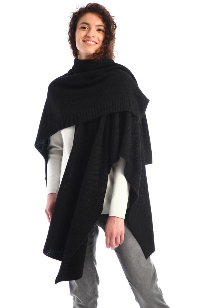 Lurex wool poncho Intrend