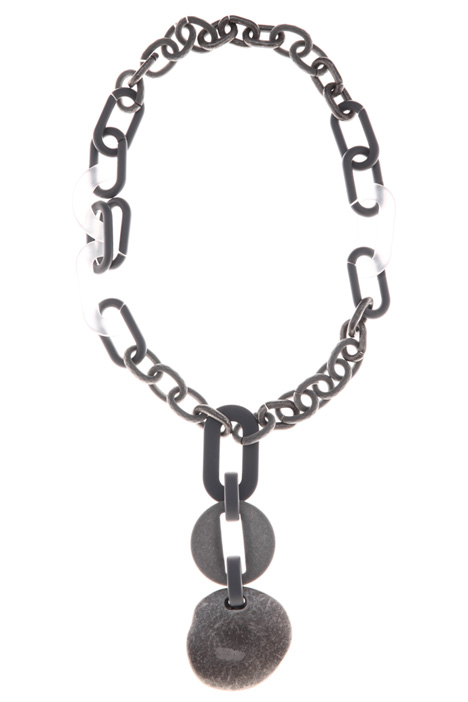 Chain resin necklace Intrend