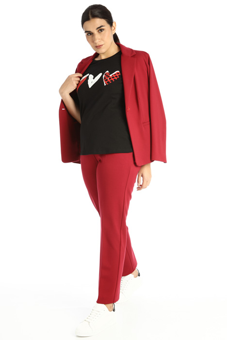 Slim fit jersey trousers Intrend