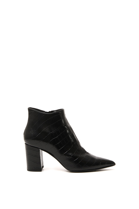 Faux leather croc boots Intrend
