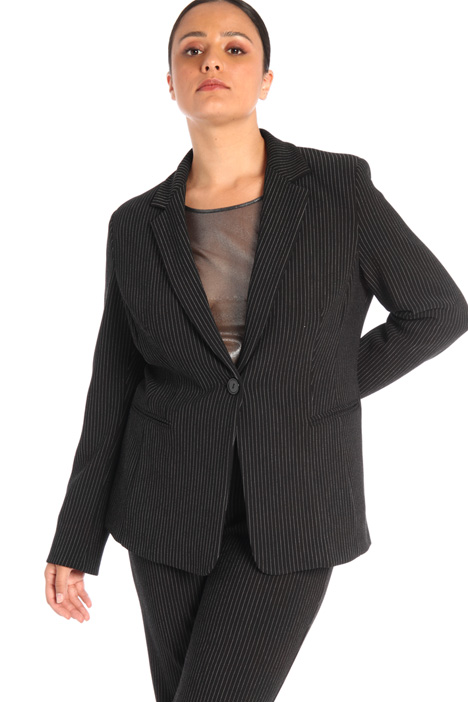 Pinstriped jersey jacket Intrend