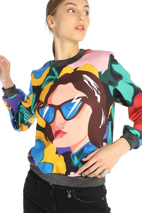 Sweatshirt in technical fabric Intrend