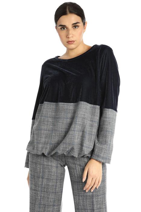 Velvet and tweed sweatshirt Intrend