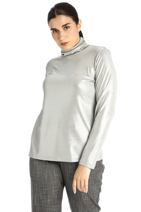 Laminated jersey sweater Intrend