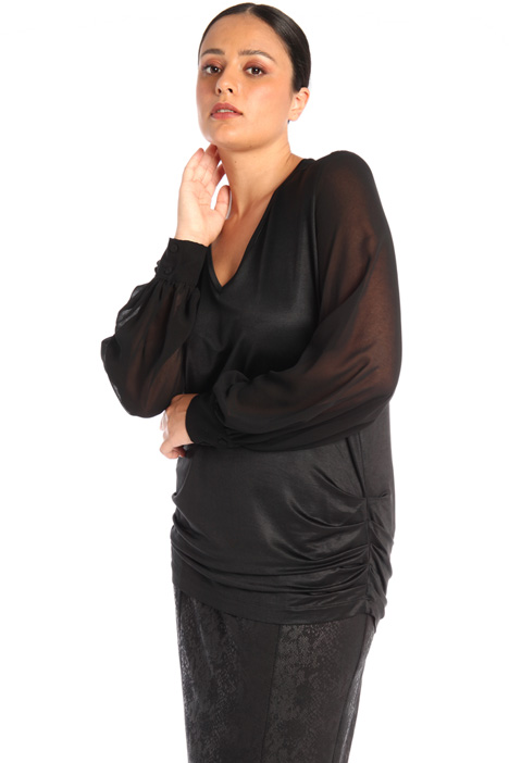Shiny jersey blouse Intrend