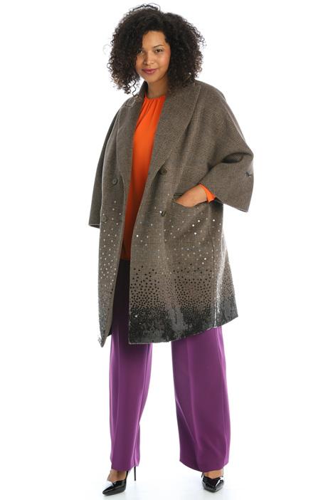 Coat in sequinned fabric Intrend