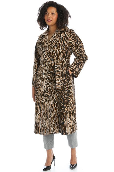 Belted jacquard coat Intrend