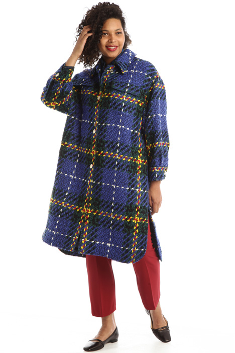Yarn-dyed coat Intrend