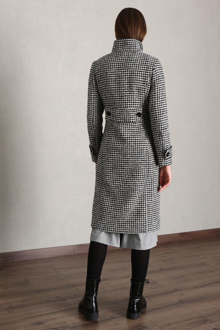 Cappotto in lana tinto filo Intrend
