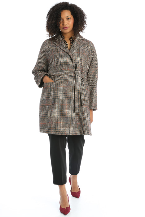Wrap-up cloth coat Intrend