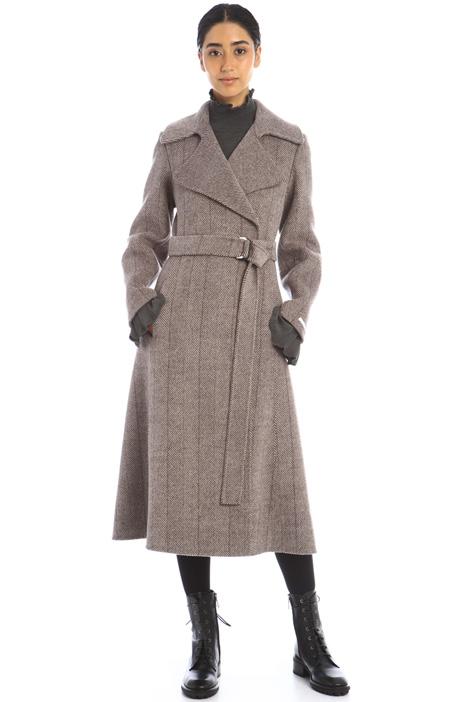 Cappotto lungo in drap Intrend