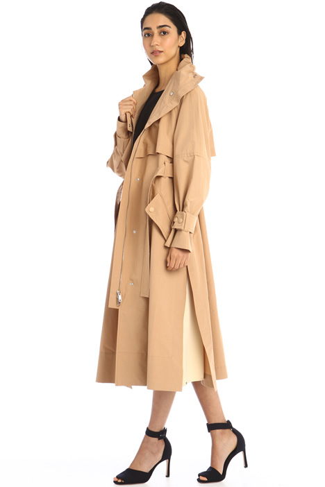 Long microfaille trench coat Intrend
