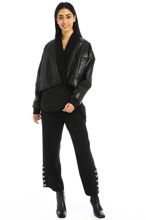 Cropped leatherette jacket Intrend