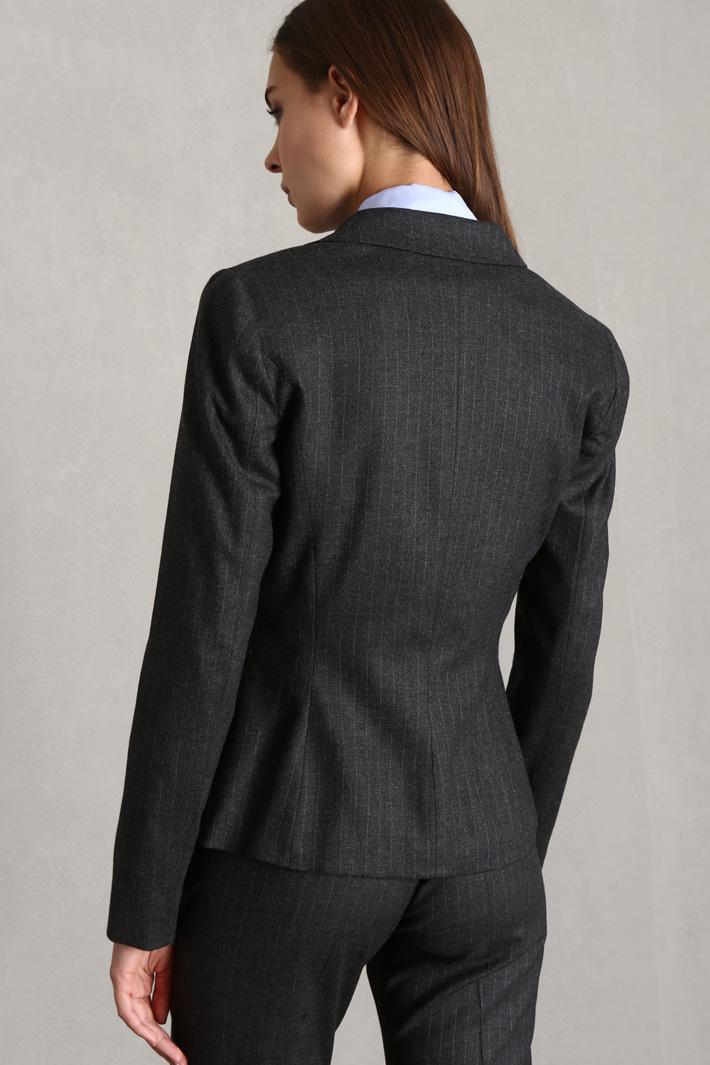 Slim fit flannel blazer Intrend
