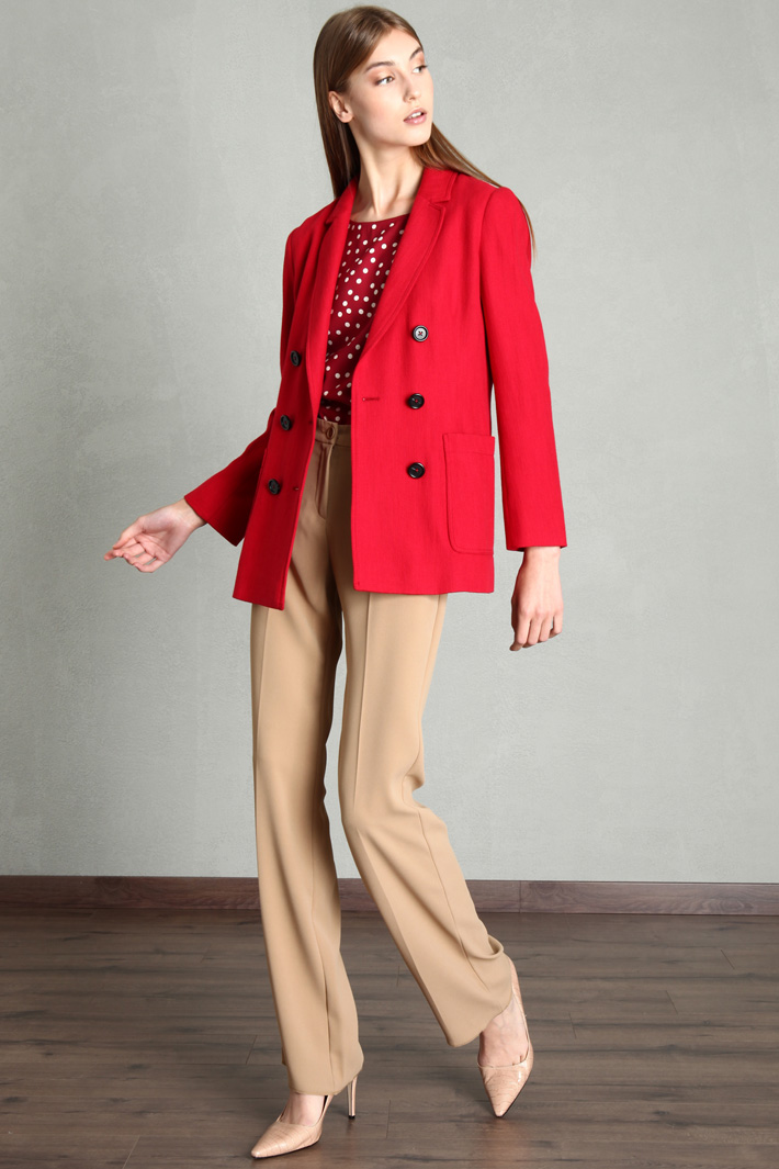Double-breasted woven blazer Intrend