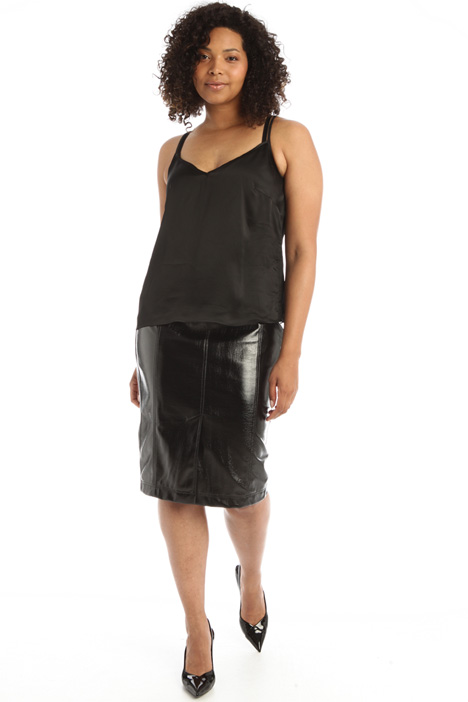 Patent leather skirt Intrend