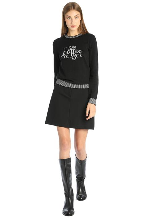 Short skirt in tech fabric Intrend
