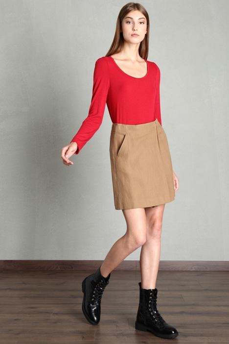 Woven cotton skirt Intrend