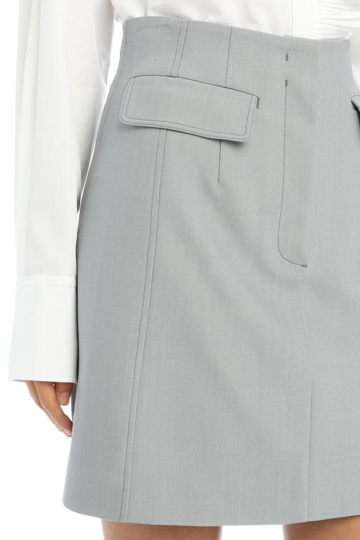 Gabardine mini skirt Intrend