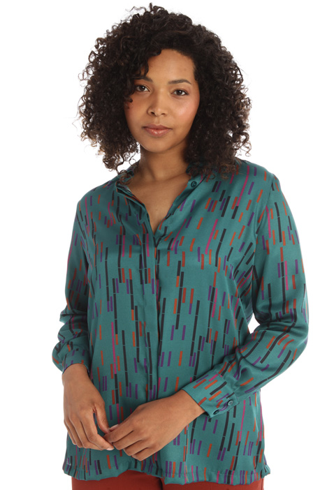 Blusa in twill  Intrend