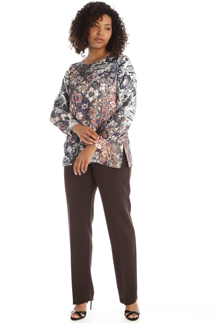 Patterned satin blouse Intrend