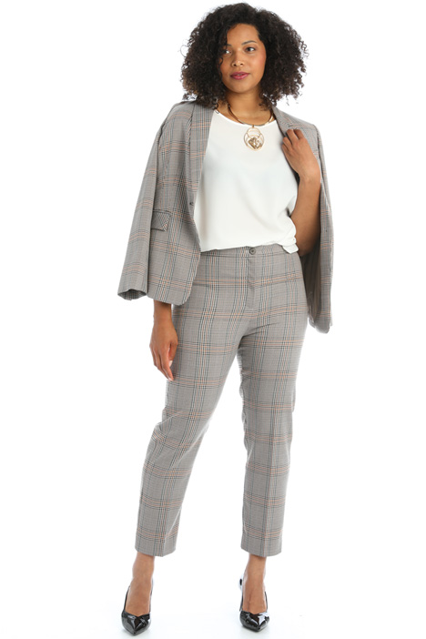 Yarn dyed cigarette trousers Intrend