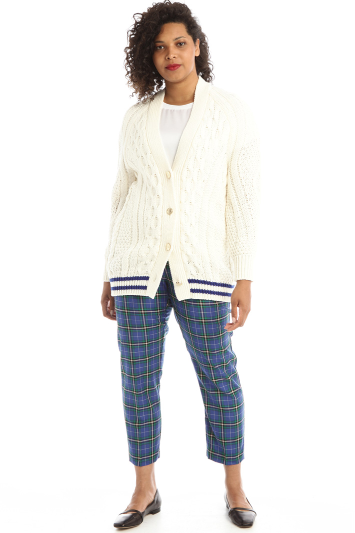 Yarn dyed wool trousers Intrend