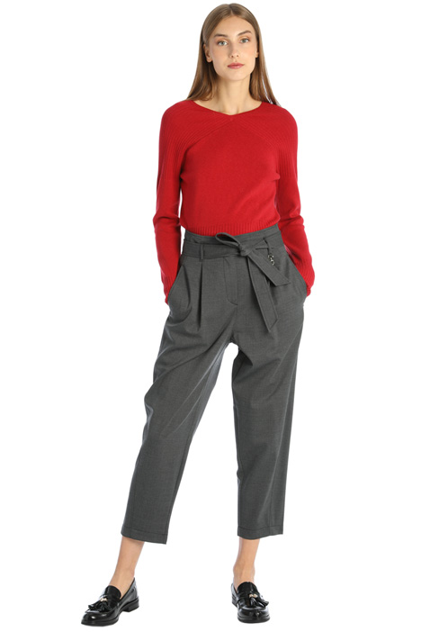 Twill carrot trousers Intrend