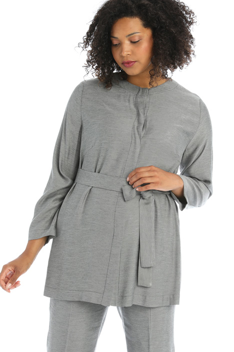 Belted viscose tunic Intrend