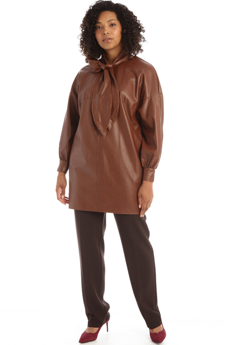 Tunic in stretch nappa leather Intrend
