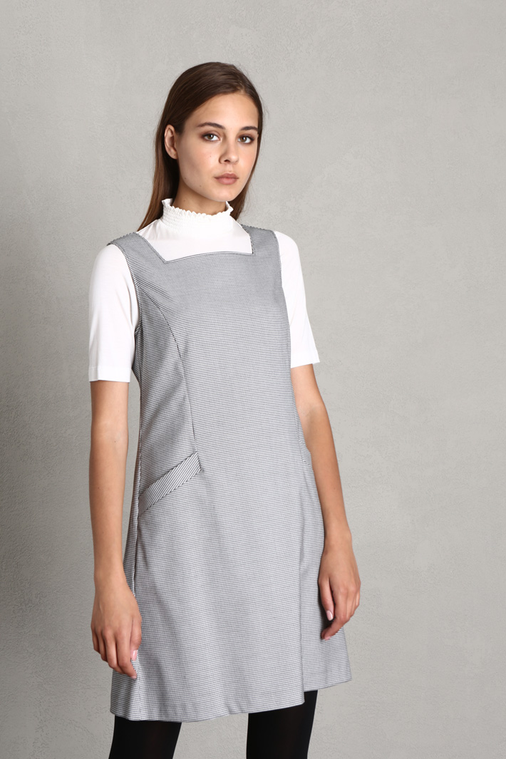 A-line yarn dyed dress Intrend